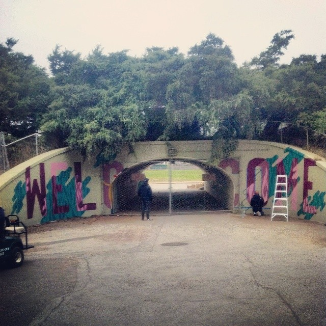 Alán gets ready to welcome fans to Outside Lands 2014