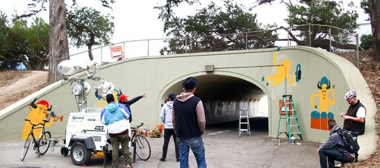 Alán directs street art concepts for Outside Lands 2013