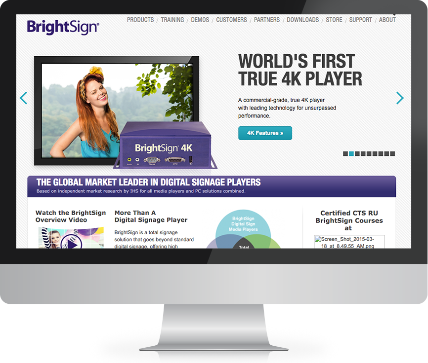 BrightSign digital marketing example before