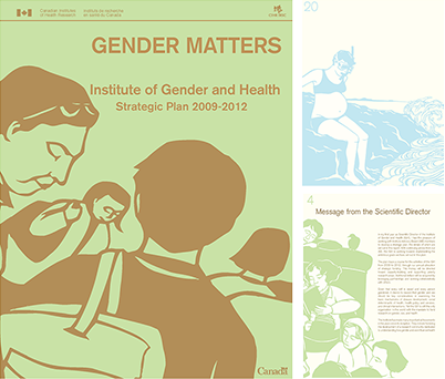 Institute of gender & health digital marketing example before