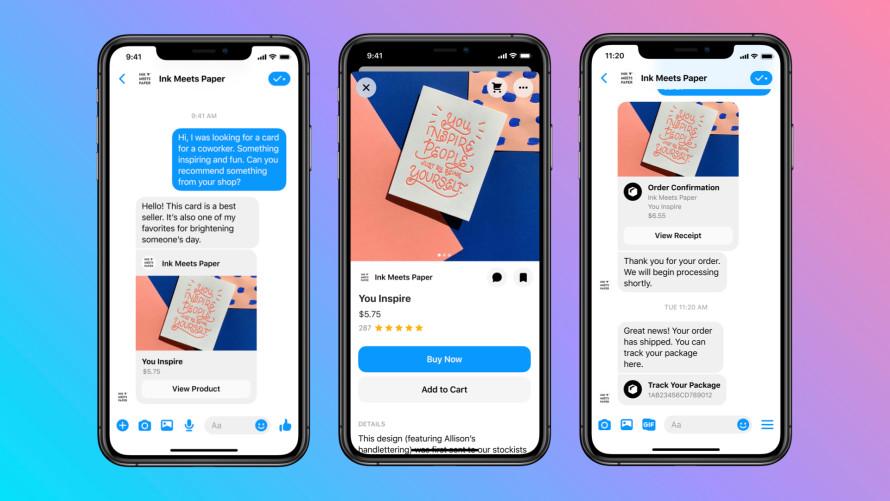 Facebook Shops' integration with Messenger.