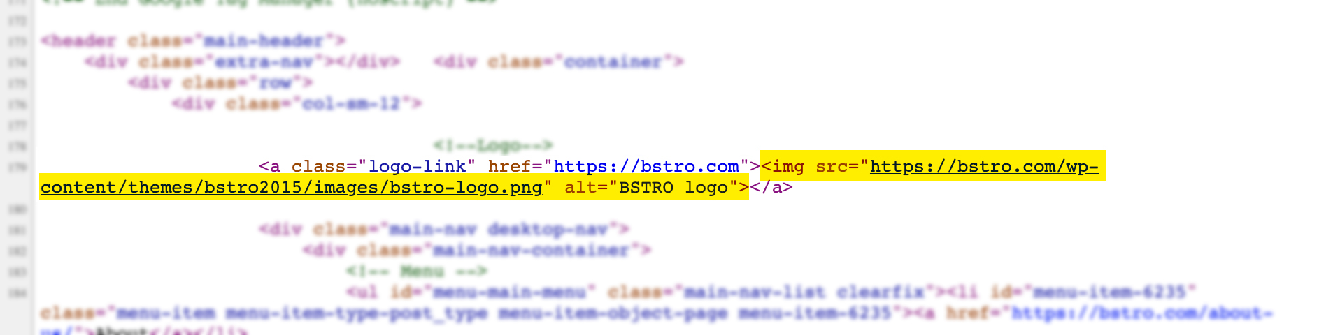 Example of clean code for a link with properly set alt text for image.