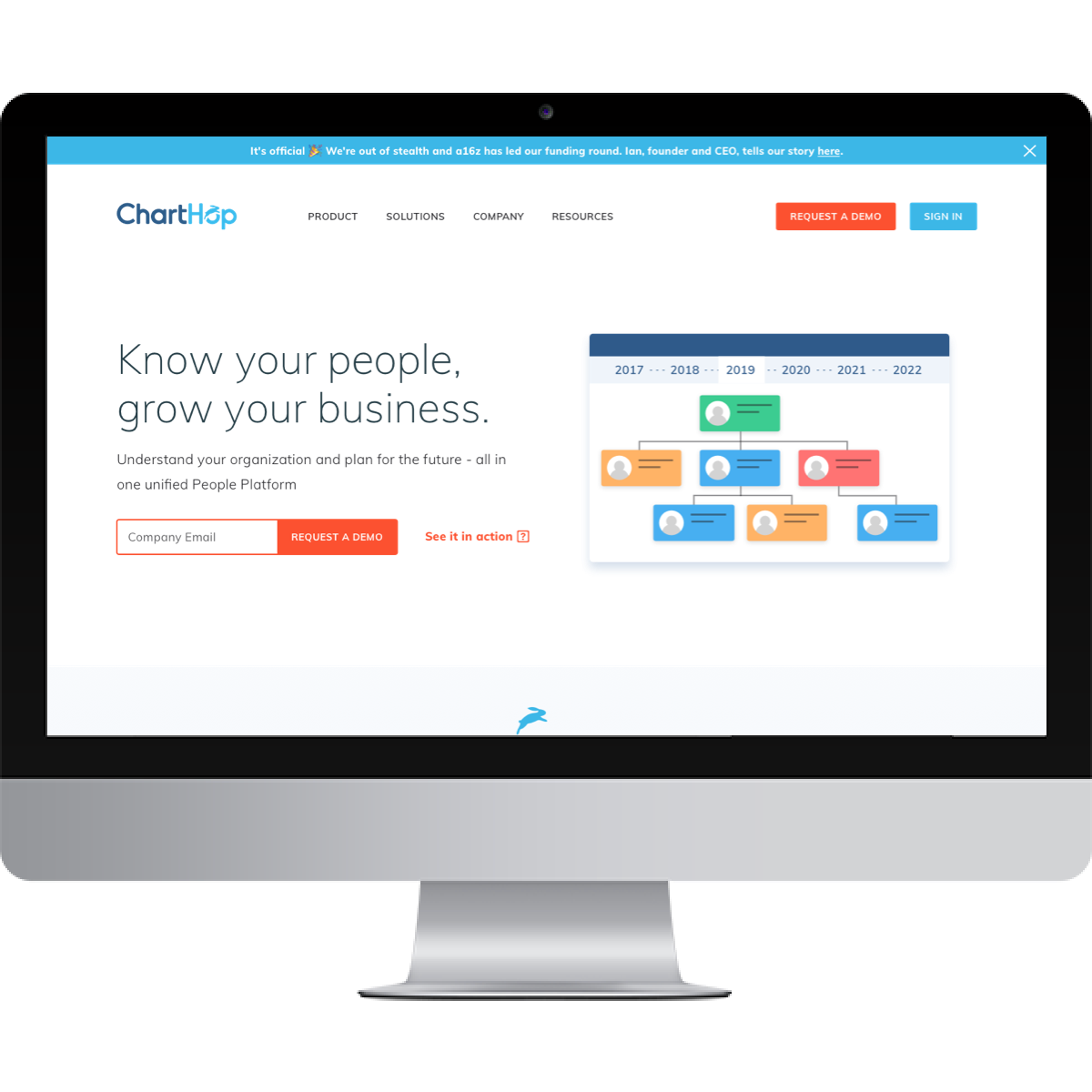 Charthop website after BSTRO